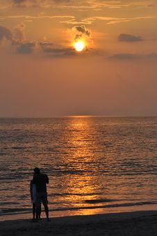Free Sunset And Romance In Thailand Royalty Free Stock Photography - 23065047
