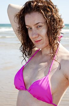 Free Beautiful Girl On Beach Stock Photography - 23065322