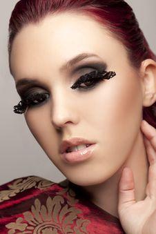 Free Model With Long Eyelashes Royalty Free Stock Images - 23065439
