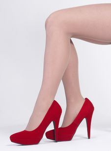 Woman S Legs In Heels Stock Images