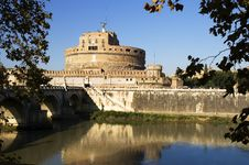 View Of Castle Sant Angelo, Rome Royalty Free Stock Photos