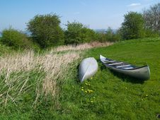 Free Canoes Ready For Action Stock Image - 23068621