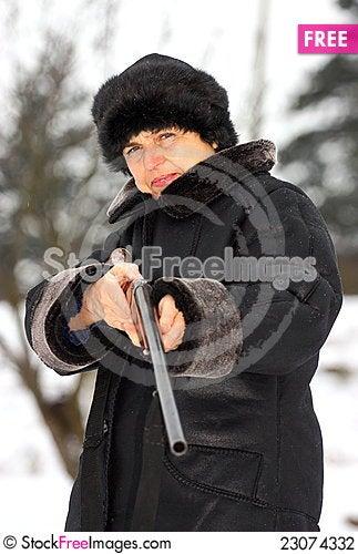 Free Female Hunter Stock Photography - 23074332