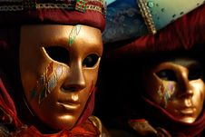 Free Venetian Masks Royalty Free Stock Images - 23071149
