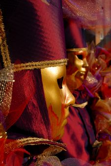 Free Venetian Masks Royalty Free Stock Image - 23071156