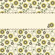 Free Vector Floral Pattern With A Frame Royalty Free Stock Images - 23071529