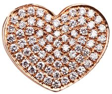 Free Heart In The Form Of Diamonds On A Gold Surface. Royalty Free Stock Image - 23072056