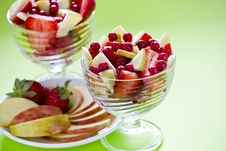 Free Two Fruit Salad Bowls Stock Photography - 23073502