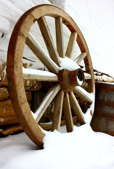 Free Antique Wagon Wheels Royalty Free Stock Photography - 23074197
