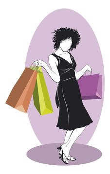Free Shopping Girl Stock Photography - 23076502