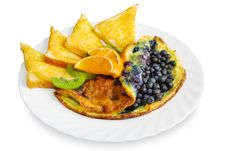 Omelets With Blueberries Stock Photography