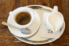 Free Black Espresso Coffee In A Cup Royalty Free Stock Photos - 23079398