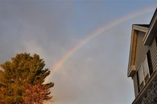 Free Rainbow In A Suburbia Royalty Free Stock Photography - 23079447