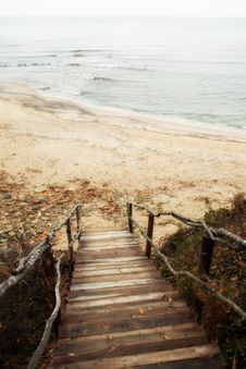 Stairs To Sea Stock Images