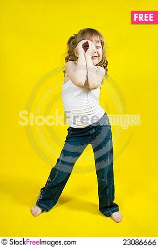 Free Cheerful Girl Royalty Free Stock Image - 23086666
