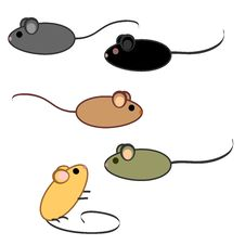Free Mice Set Royalty Free Stock Photos - 23080168