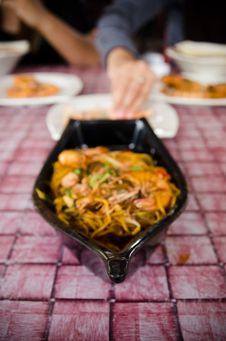 Free Fried Prawn Mee Stock Images - 23082134