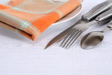 Free Cutlery And Napkin Stock Image - 23083141