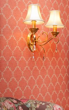 Free Two Lamps On Pink Seamless Floral Pattern Royalty Free Stock Photography - 23083567