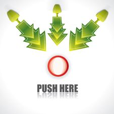 Free Push Here Concept With Arrows Stock Photo - 23085330