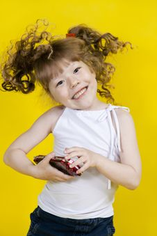 The Dancing Expressional Little Girl Royalty Free Stock Photos