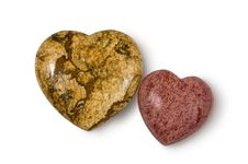 Two Stone Heart Royalty Free Stock Photos