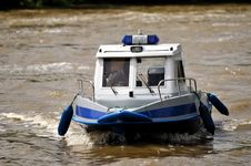 Free Police Motorboat Stock Image - 23090671