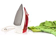 Free Electric Iron Stream Isolate Stock Photography - 23093682