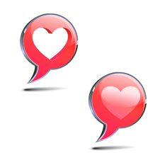 Free Text Bubbles With Heart Stock Photos - 23095463