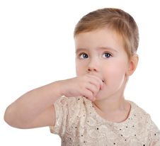 Free Portrait Of Little Girl Eating Chocolate Royalty Free Stock Images - 23097399