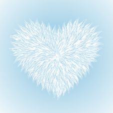 Free Fluffy White Heart Royalty Free Stock Image - 23098206