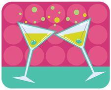 Free Martinis Retro Style Illustration. Royalty Free Stock Photography - 23098417