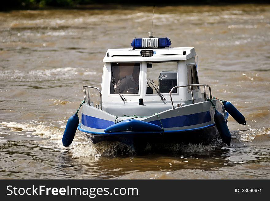 Police motorboat