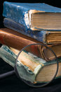 Free Old Books And Magnifier Stock Photography - 2314522