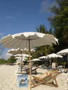 Free Chairs And Parasols On The Bea Royalty Free Stock Photo - 2319905