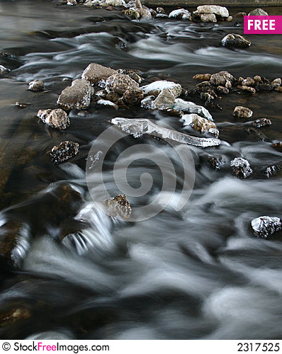Free Icy River Taken In Slow Speed Royalty Free Stock Photo - 2317525