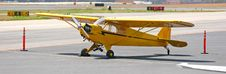 Free Old Yellow Plane Royalty Free Stock Photography - 2310817