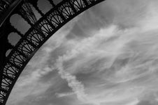 Eiffel Tower Ornate Curve Stock Image