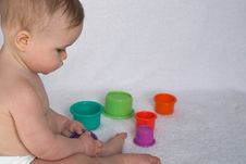 Free Playing With Cups Royalty Free Stock Photo - 2311425