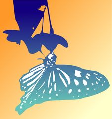 Free Butterfly Silhouette (Vector) Stock Photos - 2311743