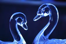 Free Blue Glass Swans Royalty Free Stock Photography - 2312127