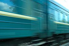 Train Speed Background Stock Image