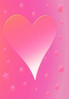 Dusky Pink Heart Royalty Free Stock Photo