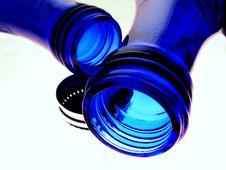 Free Blue Water Bottles Royalty Free Stock Photo - 2314625