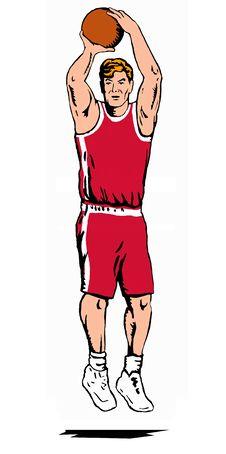 Free Basketballer Jumpshot Red Stock Photography - 2315382