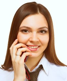 Free Satisfied Businesswoman Royalty Free Stock Image - 2318686