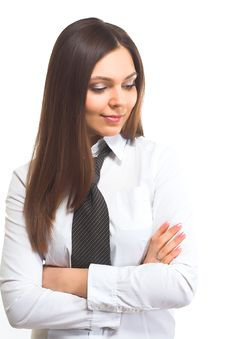 Free Satisfied Businesswoman Royalty Free Stock Photography - 2318687