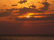 Sunrise At Virginia Beach Stock Photo