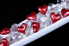 Valentine Hearts Decoration Royalty Free Stock Photos
