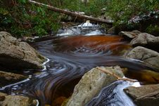 Free Natural Tannin Colored Stream In The Mountains Stock Image - 23101951